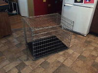 Large dog cage with tray