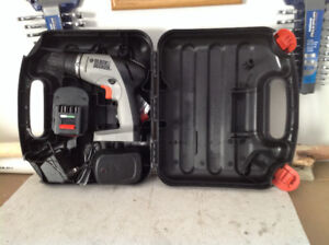 Cordless drill by Black & Decker with case