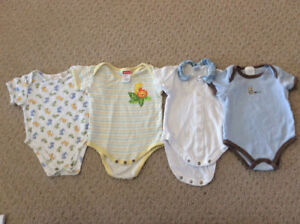 Summer onesies lot, size 0-3 months