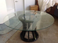 Roche Bobois Glass Dining Table