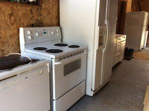 Fridge, Stove, Dishwasher