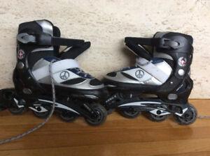 Patin a roue aligne ajustable