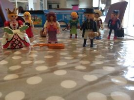 Playmobil Figures - 8 different characters