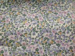 NEW KING SIZE SHEETS 100% COTTON LOVELY FLORAL EXTRA TOP SHEET
