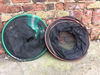 Fishing keep nets x2