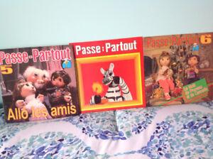 """TROIS AMUSANTS VINYLES """"PASSE PARTOUT"""" !!!"""