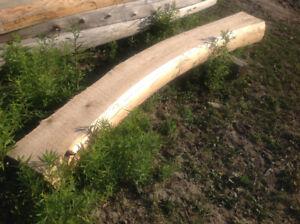 Fireside/garden rare curved cedar bench