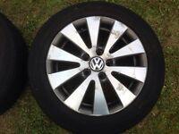 "16"" (2008) VW PASSAT B6 BLUEMOTION ALLOY WHEELS PCD 5X112 FITMENT"