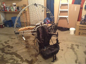 Paramotor with wing