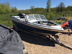 16 foot Vanguard boat and trailer