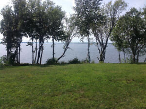 HIGH & DRY OVERSIZE WATERFRONT 3 SEASON LOTS ON GRAND LAKE