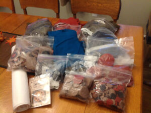 Supplies for Making Penny Rugs