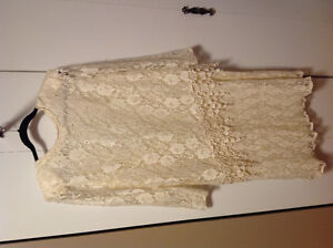 Vintage Ivory Lace Gown