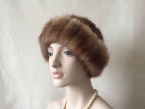 Women's Real Fur Hat Soft Warm Lined Made in USA Accessories