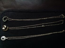 3 gold tone necklaces for £10