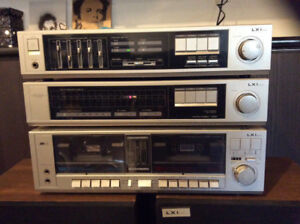 LXI, Amplifier, receiver, tape deck, tuner. Stereo system
