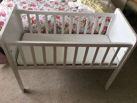 Mothercare Hyde crib mattress and bedding
