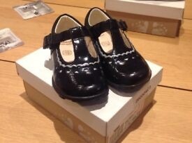 Two pairs of Girls Clarks Shoes - size 6.5H