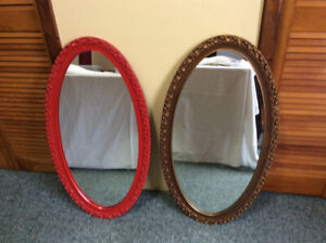 2 oval mirrors