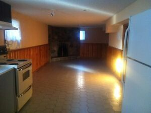 1 bedroom ground level basement available for rent