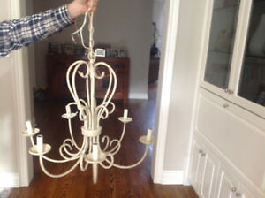 6 Light beige  iron chandelier