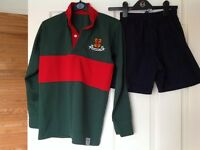 Friends' School rugby top and shorts