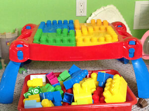 Mega blocks table for sale Peterborough Peterborough Area image 1