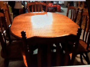 Solid ok table and chairs