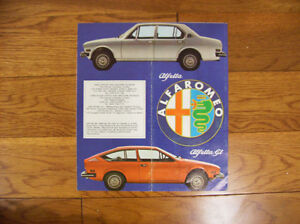1975 alpha romeo sales brochure