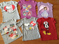 Disney/old navy girl size 5/6t clothes lot