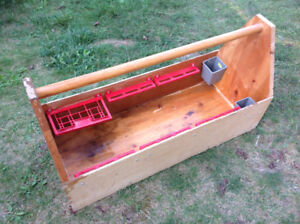 WOOD TOOLS BOX - GOOD SOLID CONDITION