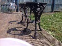 Cast iron Britannia tables x 2