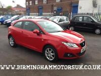 2009 (59 Reg) SEAT Ibiza SC 1.4 16v 85PS SE 3DR Coupe RED + LOW MILES