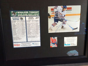 John Tavares Signed Framed piece with rookie card