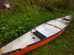 Damaged canoe for sale