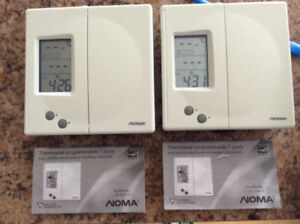 2 thermostats programmable