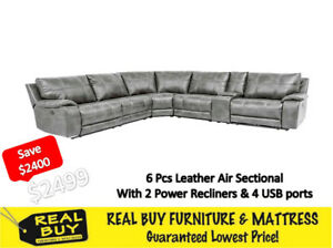 Biggest Sale Ever - 6Pc Leather Sectional for 2499 Only