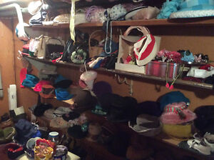 vintage clothing, hats and shoes
