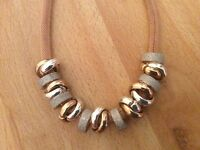 Rose Gold & Silver Ring Necklace
