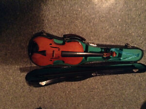 Violin, Bows and Case.     UNMARKED