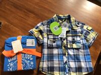 NWT size two shirt and pjs