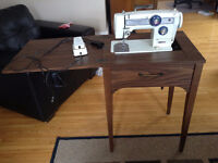 Morse Sewing Machine with Cabinet