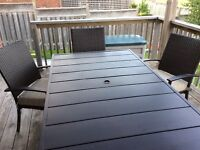 Patio table and 6 chairs - mint condition!