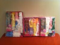 New Barbie with 25 piece of fashion & accessories $7 per set