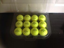 Callaway Mixed Model Yellow Golf Balls x 75. Pearl / A Grade Condition