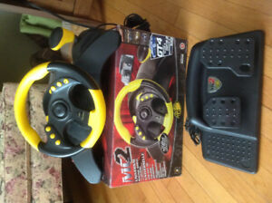 Mad Catz Racing Wheel for PlayStation 2, XBox, Game Cube, PS One