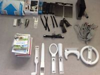 WII game console with lots of accessories and games