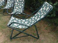 Rocking garden deckchairs