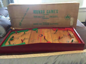 1950's Munro table top hockey game