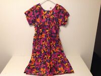 Dress - floral pattern red/yellow/blue, 1-size. (NC49)